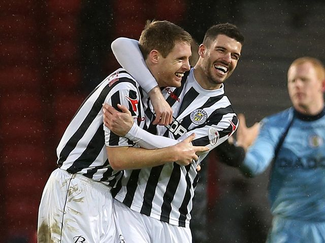 St Mirren celebrate their win