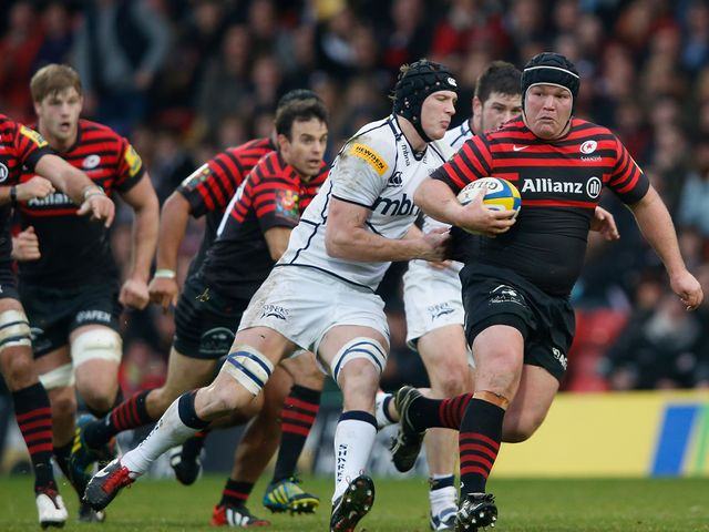 Matt Stevens in action for Saracens