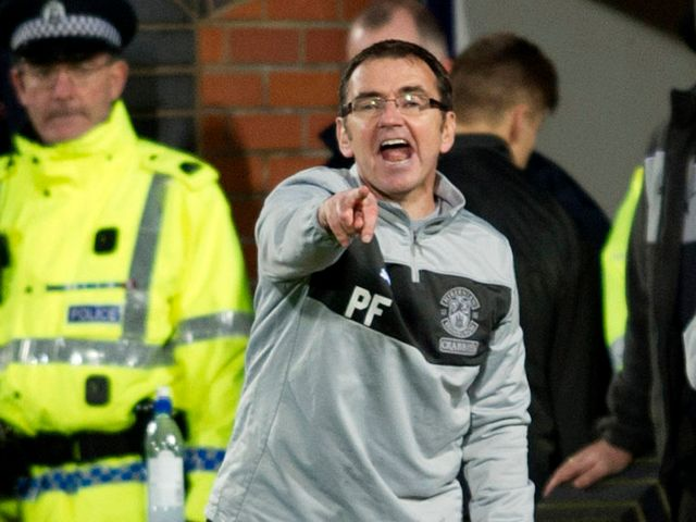 Pat Fenlon makes his point at Tynecastle