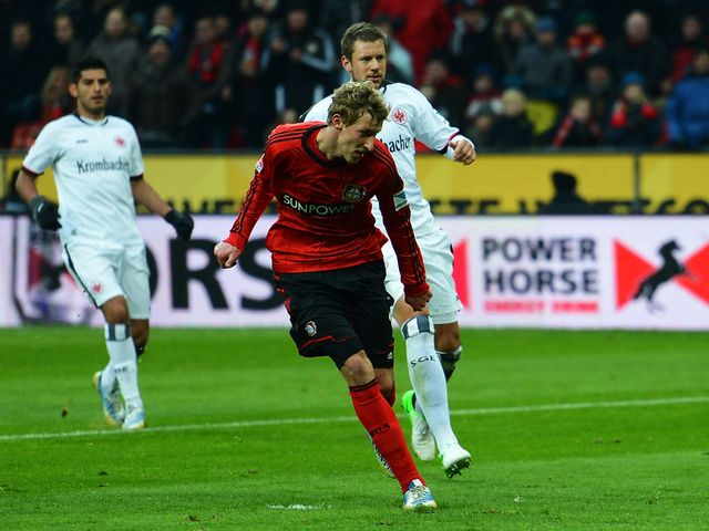 Stefan Kiessling scores for the hosts