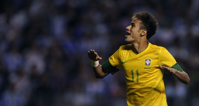 Neymar: On target for Brazil