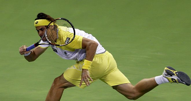 David Ferrer: Spaniard saw off Dustin Brown in a deciding set