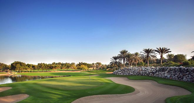 The 12th hole at Abu Dhabi