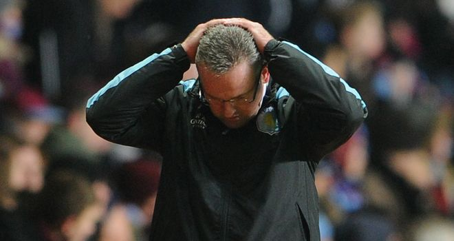 Paul Lambert:  Rues missed opportunity for Aston Villa