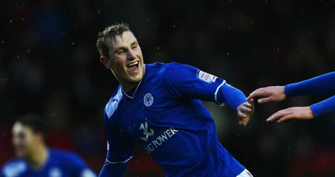 Chris Wood: Leicester&#39;s hat-trick hero celebrates at Ashton Gate