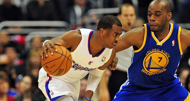 Chris Paul: scored 27 points and contributed nine assists as the Clippers beat the Warriors