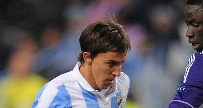 Diego Buonanotte: Malaga midfielder is hoping to join Palermo