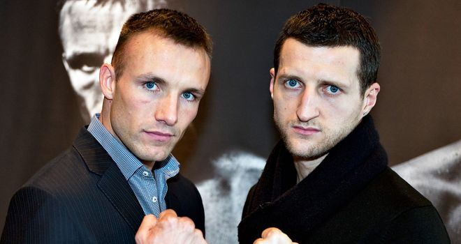 Mikkel Kessler (L) and Carl Froch: Their re-match is highly anticipated