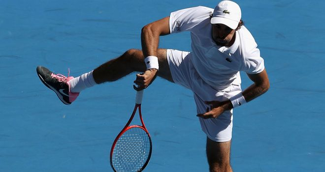 Jeremy Chardy: Was given a test by 16-year-old opponent in Chile