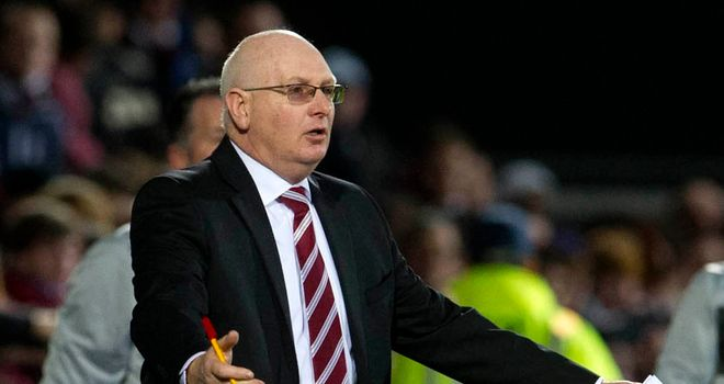 John McGlynn: Hearts manager unhappy with defending against Kilmarnock