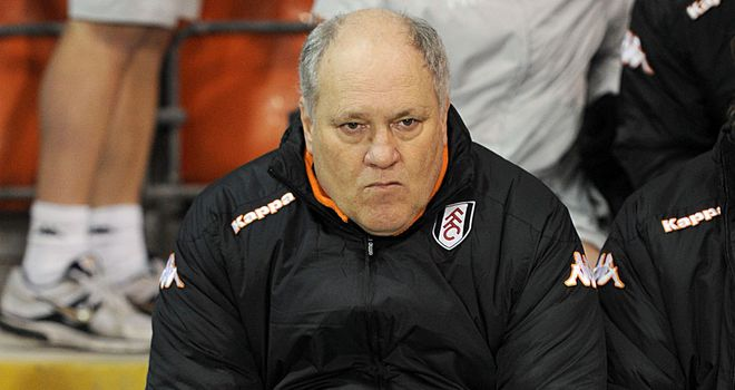 Martin Jol: Disconsolate after 4-1 thrashing at Old Trafford