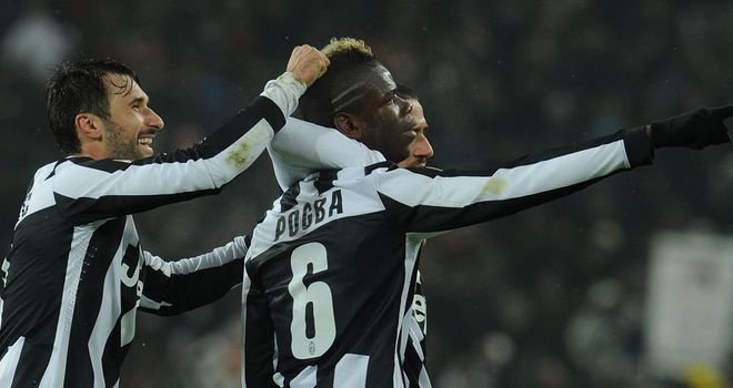 Paul Pogba scored two goals for Juventus