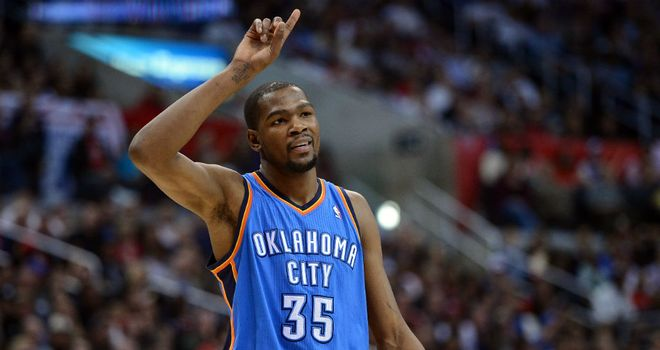 Kevin Durant: Scored 32 points to help the Thunder see off the Clippers