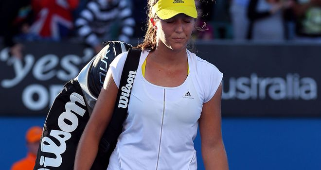 Laura Robson walks off court after losing to Sloane Stephens