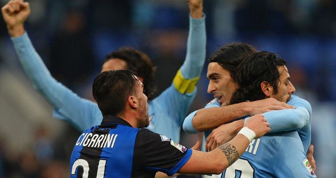 Floccari scored a controversial opener for Lazio