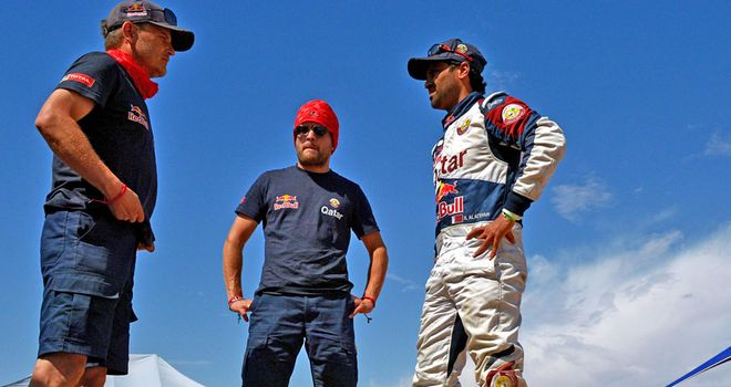 Nasser Al-Attiyah (right): Out of Dakar Rally