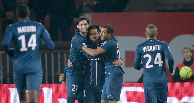 PSG celebrate their winning goal - scored by the opposition