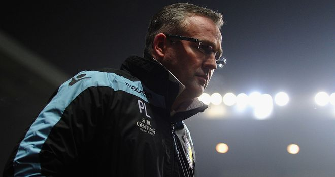 A crucial home clash looms for Aston Villa manager Paul Lambert