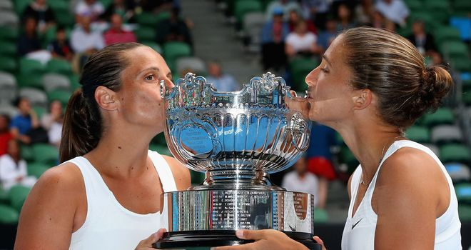 Roberta Vinci (L) and Sara Errani: Have won three of the last four women's doubles titles