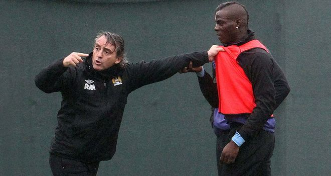 Mario Balotelli and Roberto Mancini clashed on the training ground