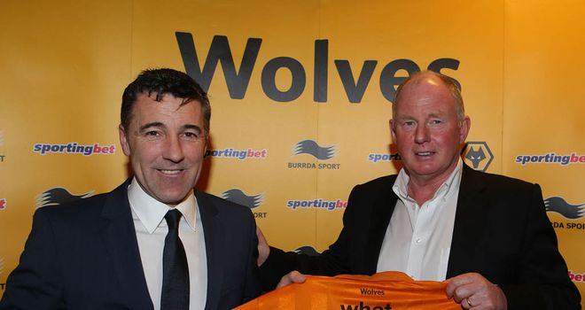 Dean Saunders and Steve Morgan: New Wolves manager and chairman