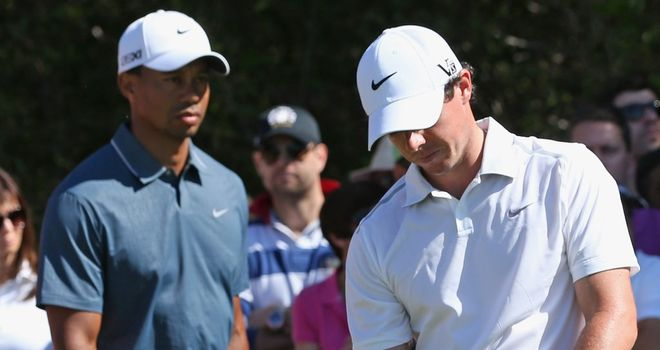 Tiger Woods and Rory McIlroy: Hoping to have luck on their side this week