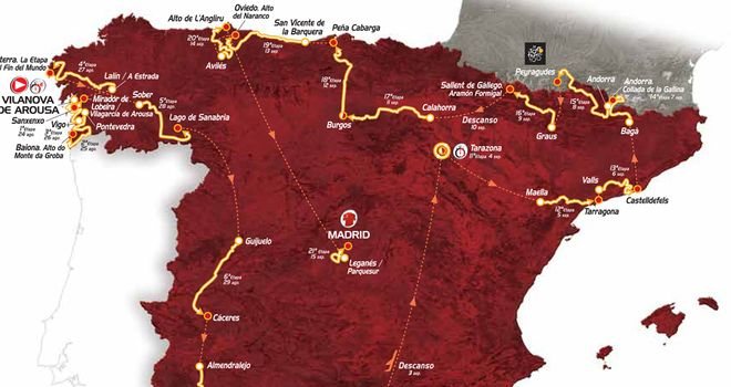 Vuelta: 2013 route (Credit: Unipublic)