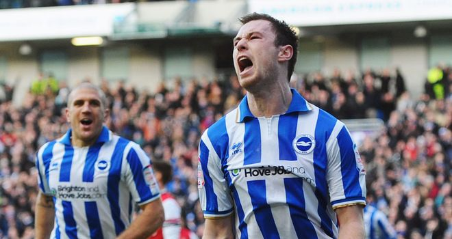 Ashley Barnes: Scored a brace for Brighton