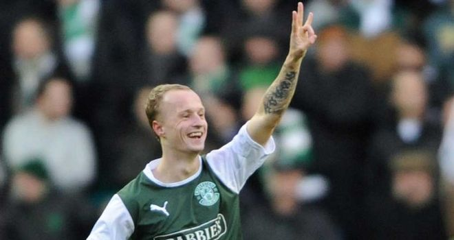 Leigh Griffiths: Winning penalty for Hibernian at St Mirren