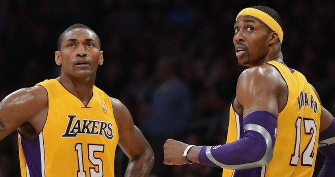Metta World Peace and Dwight Howard: scored 17 points apiece