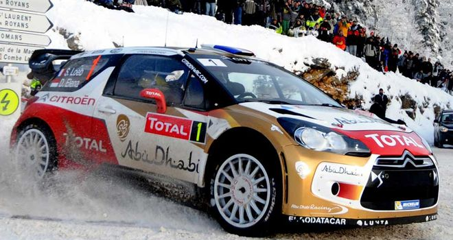 Sebastien Loeb: On course for victory in the Monte Carlo Rally