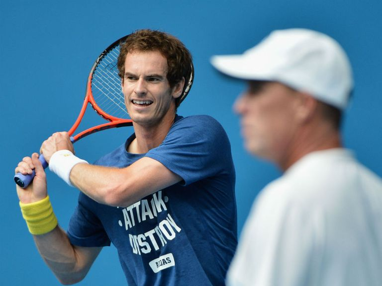 Andy Murray: Gets ready to face Jeremy Chardy