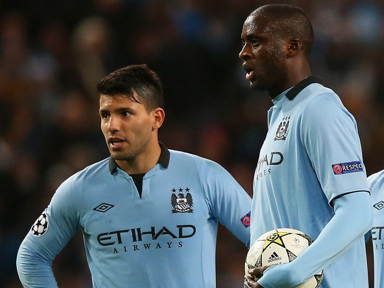 Sergio Aguero (left): Hamstring problem