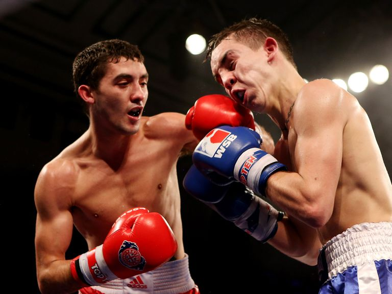 Andrew Selby in action against Michael Conlan