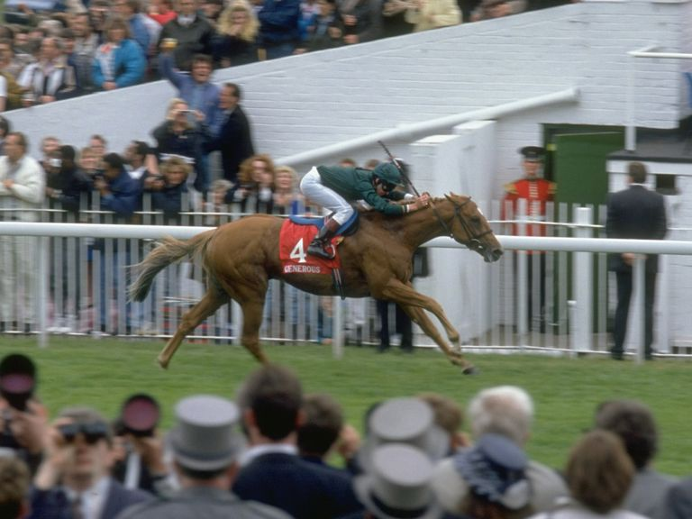Generous wins the Derby in 1991