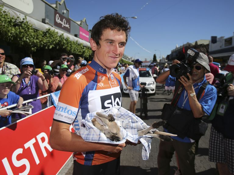Geraint Thomas: Holds the overall lead Down Under