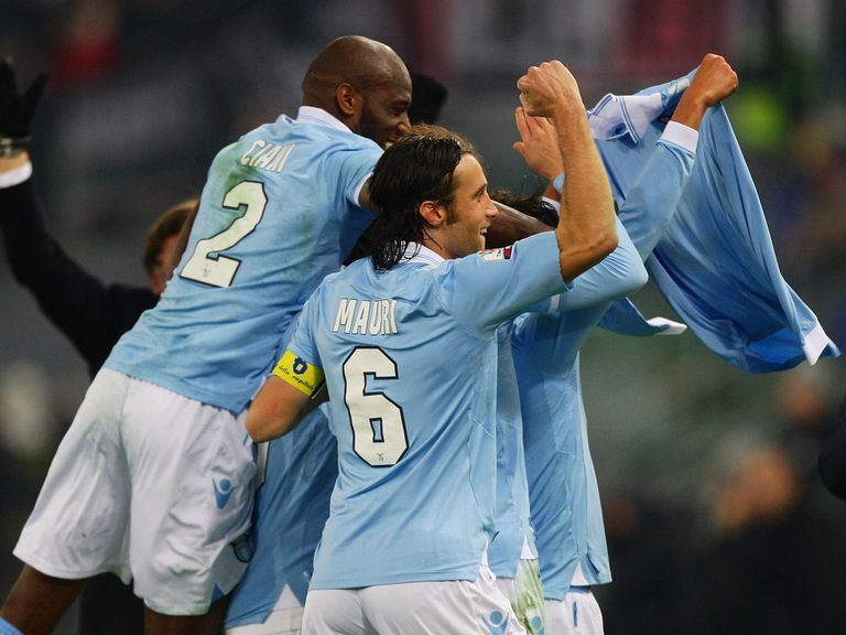 Celebrations for Lazio, who progress to the final