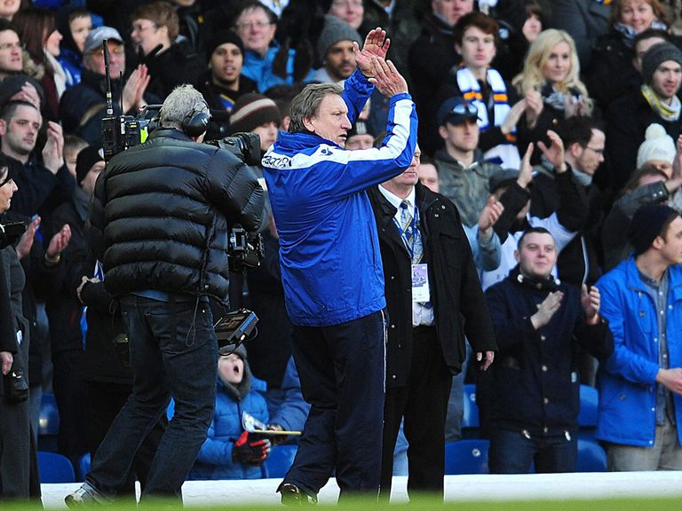 Neil Warnock salutes the Leeds fans