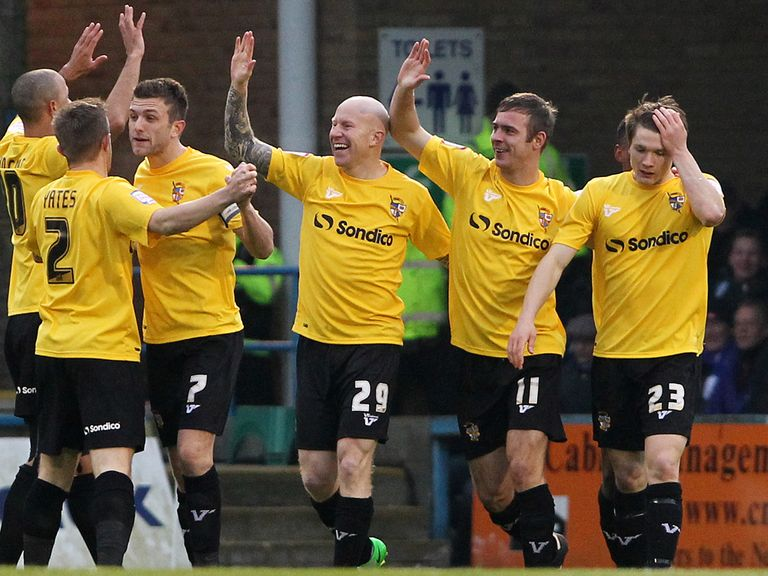 Port Vale celebrate against Gillingham