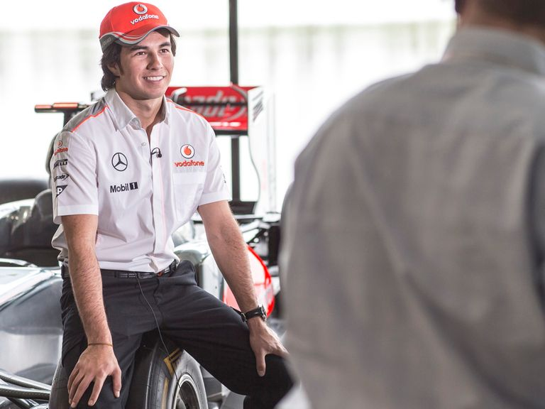 Sergio Perez: Close to turning his first wheel in a McLaren