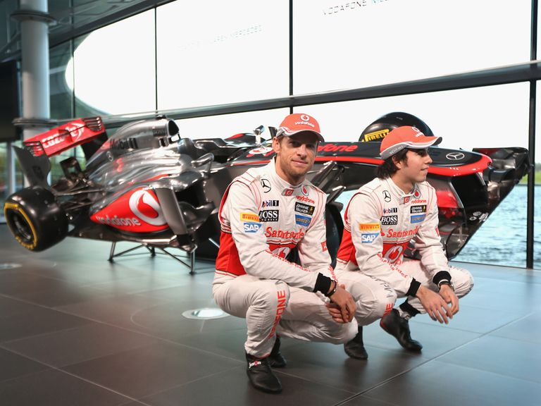 Button and Perez at the McLaren launch
