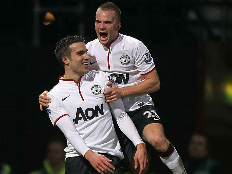 Robin van Persie scored United's equaliser
