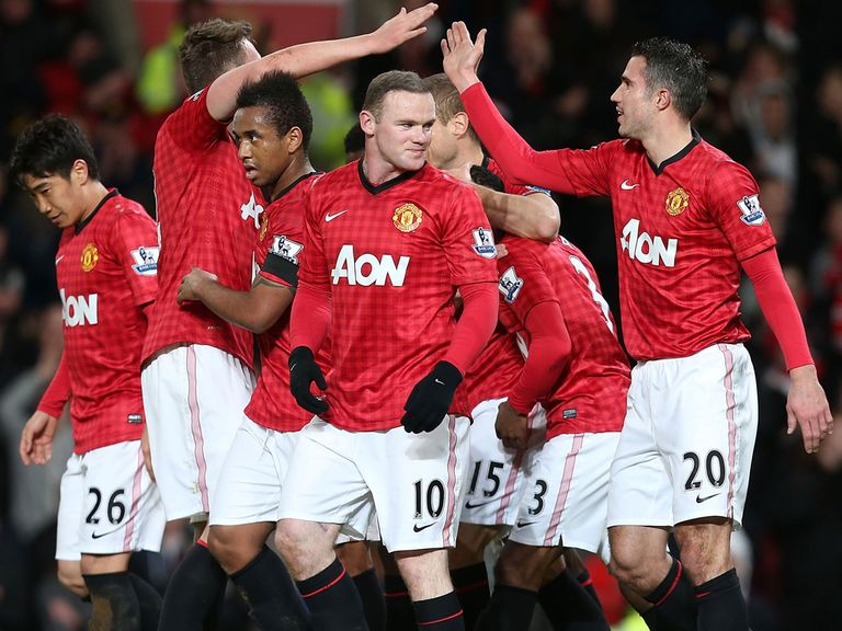Wayne Rooney scored twice in Man United's victory