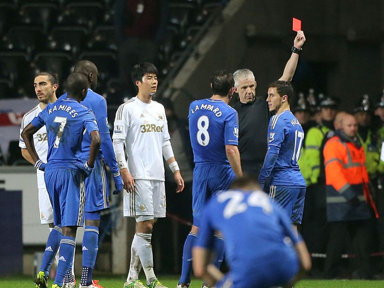 The FA will review Eden Hazard's clash with a ball boy at Swansea
