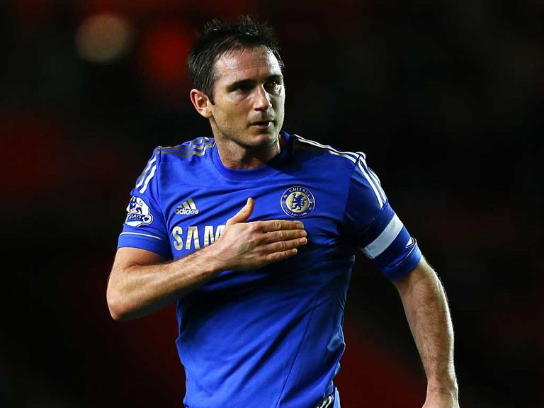Frank Lampard: Shows his feeling in Chelsea's win