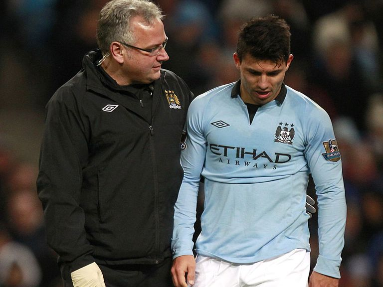 Sergio Aguero: Has suffered a torn hamstring
