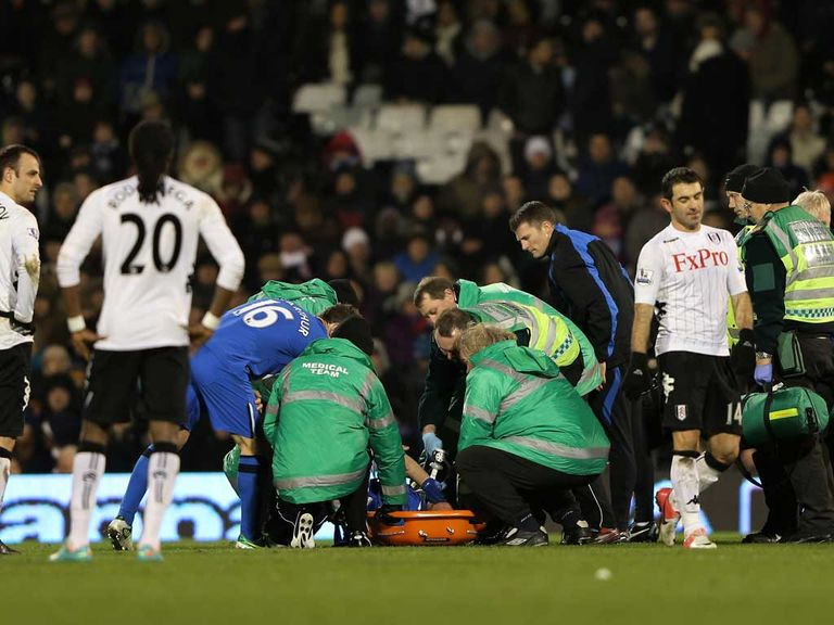 Ivan Ramis: Stretchered off against Fulham