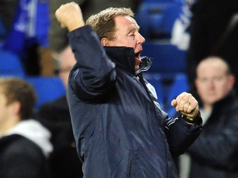 QPR boss Harry Redknapp can celebrate victory at Southampton.