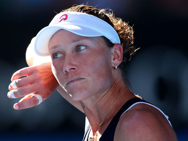 Stosur: Forced out of third-round clsh due to injury