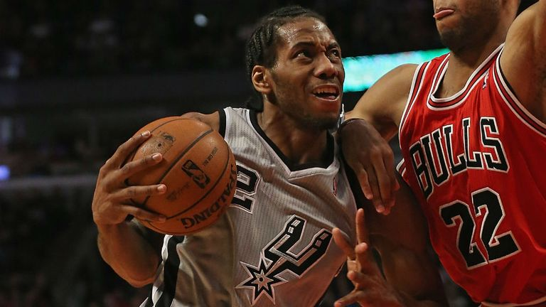 Kawhi Leonard hits career best for San Antonio Spurs